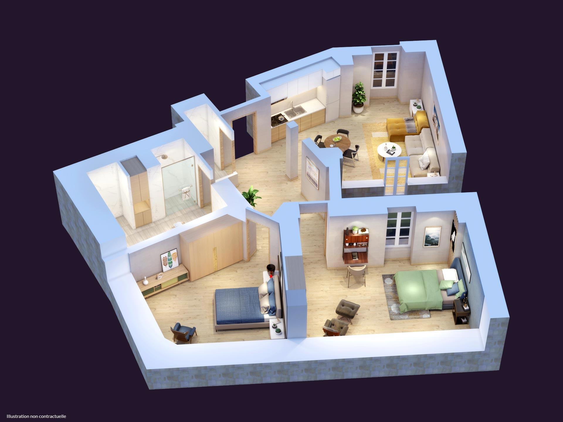 immobilier Type 3 à Nantes
